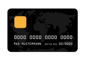 Muster Kreditkarte in Schwarz